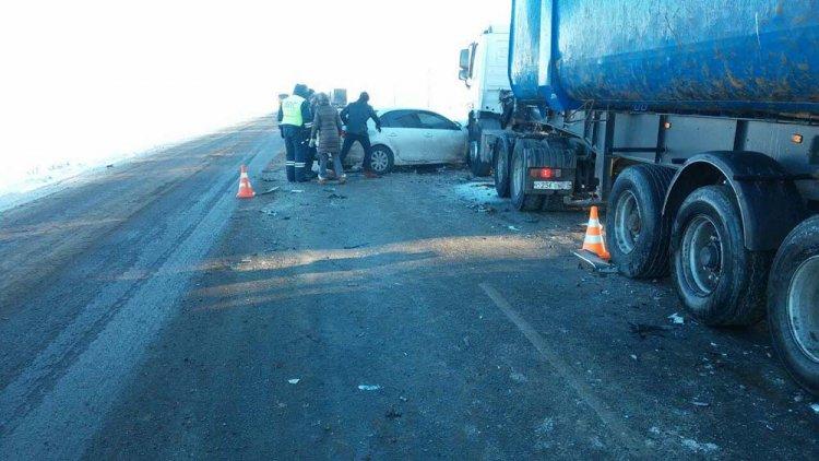Массовая авария вБашкирии: Столкнулись сразу 5 машин