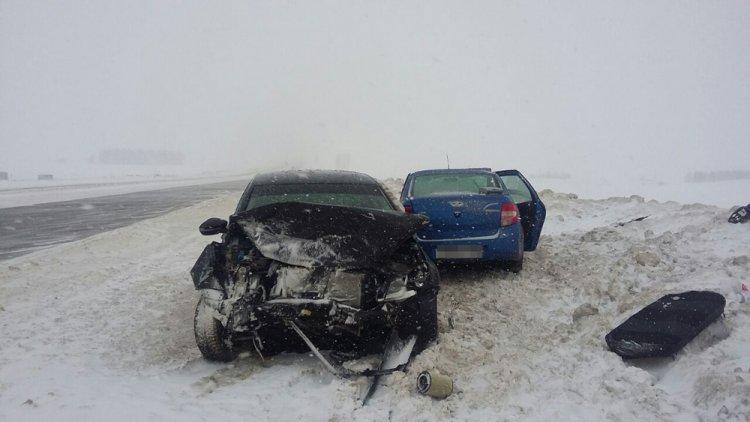 ВБашкирии при столкновении 2-х легковых авто погибла 68-летняя пассажирка