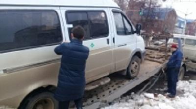 ВБашкирии приставы изъяли уженщины автобус