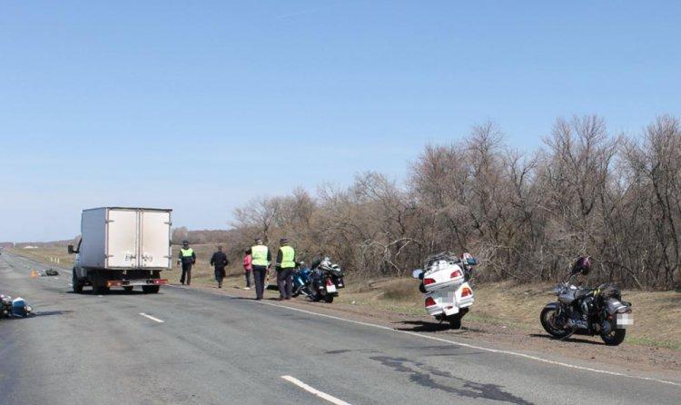ВБашкирии разбились два мотоцикла врезультате дорожно-траспортного происшествия