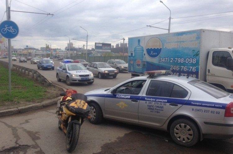 ВУфе задержаны два мотоциклиста, пытавшиеся исчезнуть отполицейских