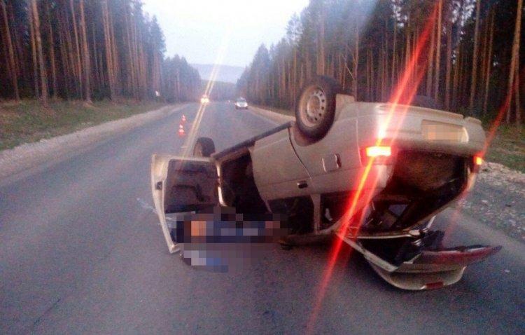 Фото смертельного ДТП в Башкирии: девушка без прав перевернула автомобиль