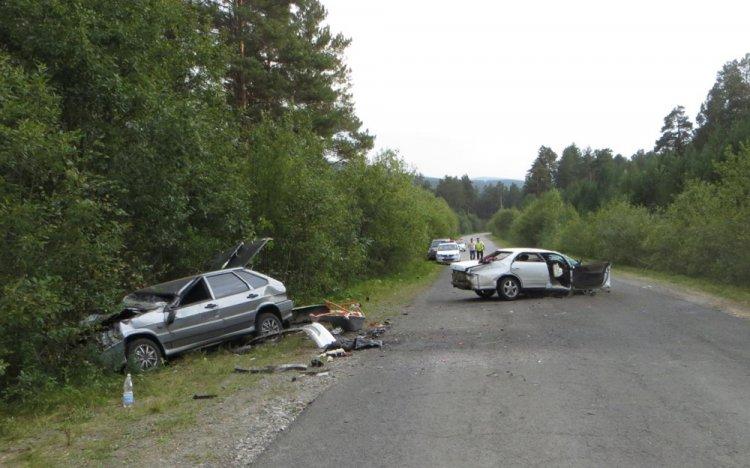 Страшное ДТП в Башкирии столкнулись Toyota Mark , Hyundai Elantra и ВАЗ-2114