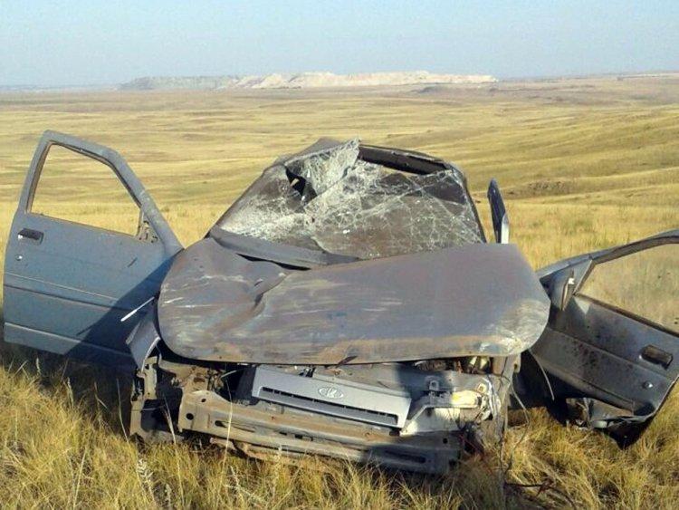 ДТП в Башкирии: пьяные подростки опрокинулись в кювет