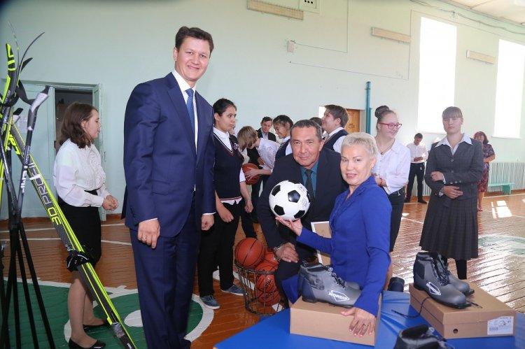 Коррекционные школы Стерлитамака, Салавата, Ишимбая и с. Воскресенское получили новое спортивное оборудование