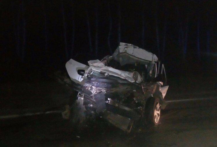 В Башкирии Hyundai Solaris протаранил грузовик, погиб 20-летний водитель