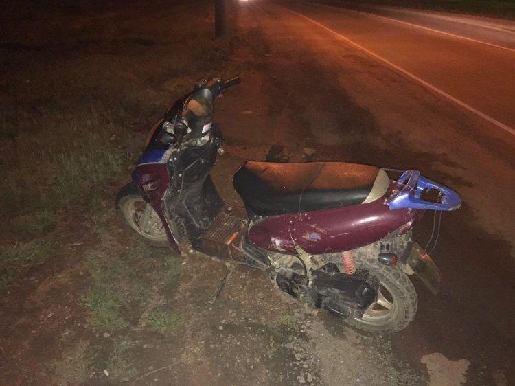 В Уфе 13-летний школьник на скутере пострадал в ДТП с Ford Focus
