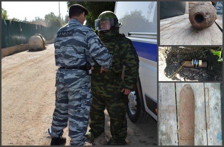 В Кугарчинском районе Башкирии взрывотехники  уничтожили взрывоопасный боеприпас времен Гражданской войны