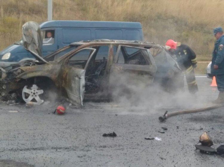 Жуткое ДТП в Башкирии:  мотоциклист влетел в «Nissan Murano»