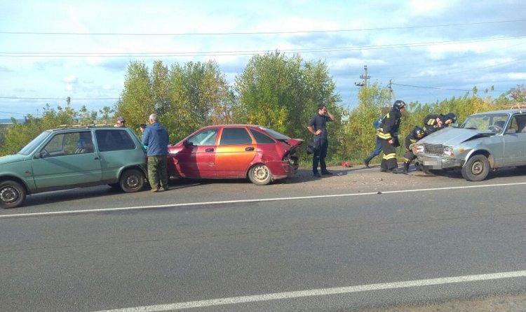 В Башкирии 80-летний водитель стал виновником ДТП с тремя авто