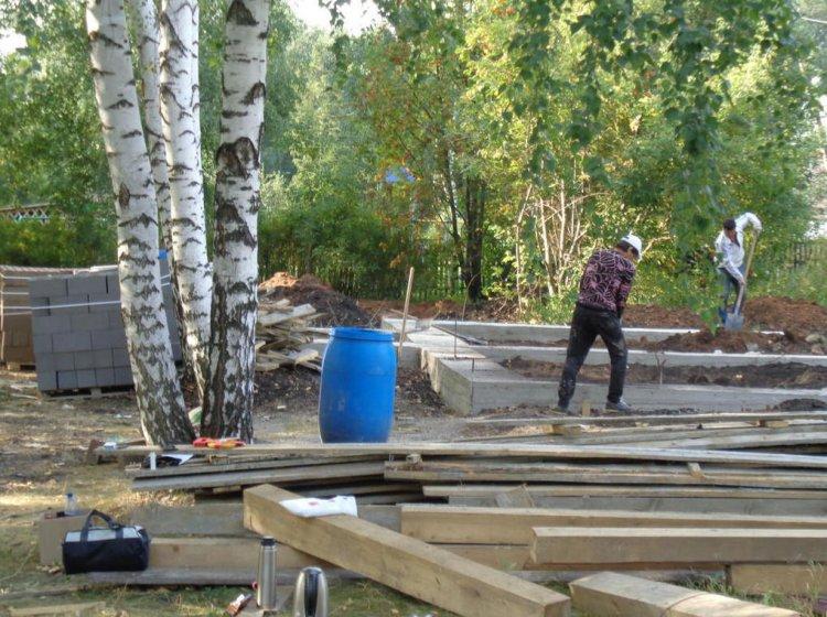 В селе Семенкино Аургазинского района РБ строят новый фельдшерско-акушерский пункт