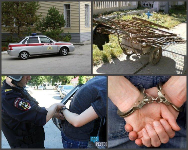 В Уфе сотрудники Росгвардии задержали горожанина, пытавшегося во второй раз украсть металлические секции забора