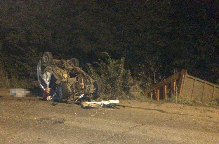 Водитель «Нивы» погиб в страшном столкновении с КамАЗом в Башкирии