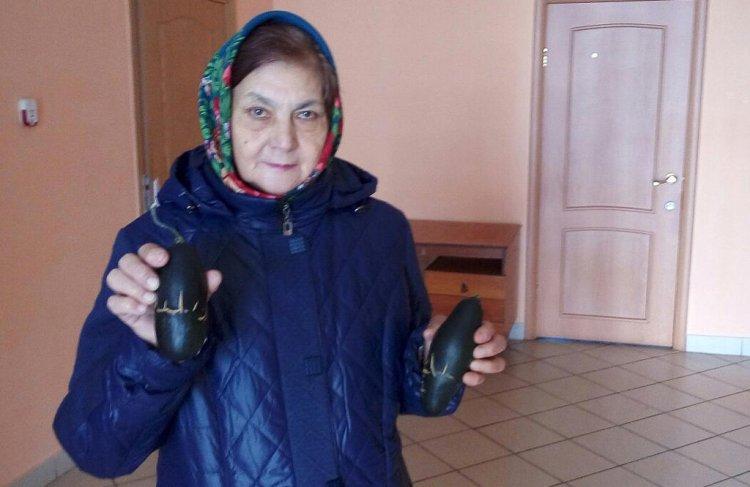 В Аургазинском районе Башкирии в огороде пенсионерки выросли кабачки с таинственными письменами