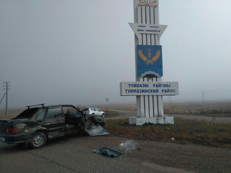 В Башкирии автомобиль въехал в группу школьников