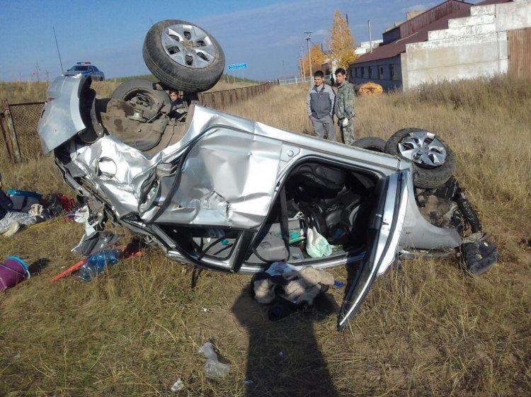 В Башкирии опрокинулся Hyundai Solaris: один человек погиб, еще четверо госпитализированы