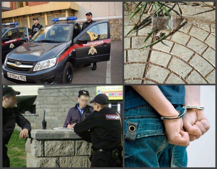 В Уфе росгвардейцы  задержали подозреваемого в хранении и употреблении наркотиков