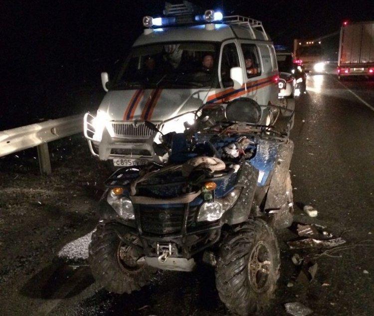 В Башкирии 62-летний водитель квадроцикла не уступил дорогу «Шевроле» и погиб