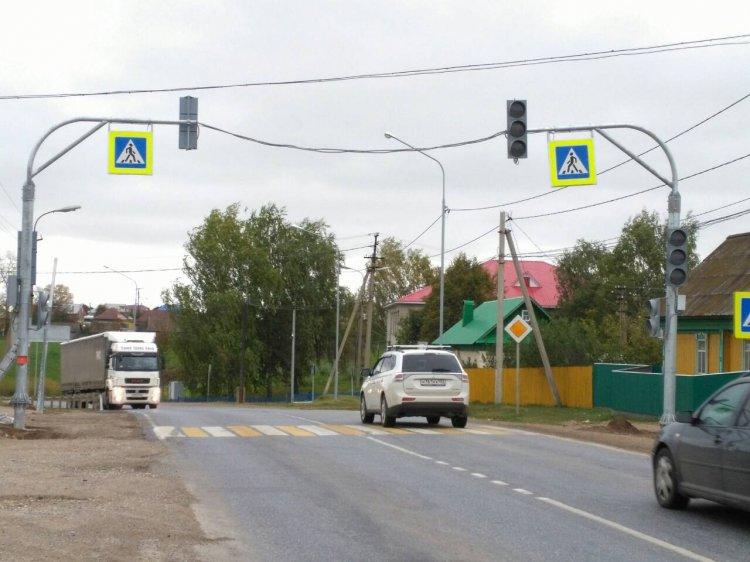 Новые светофорные объекты установлены на федеральных трассах в  Башкирии