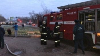 Утром в Уфе сгорела сауна в жилой многоэтажке