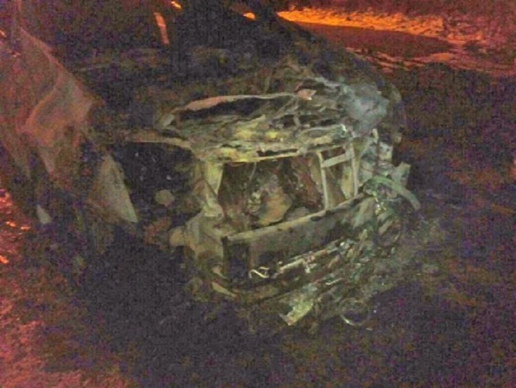 Ночью в Башкирии сгорел дорогостоящий Cadillac