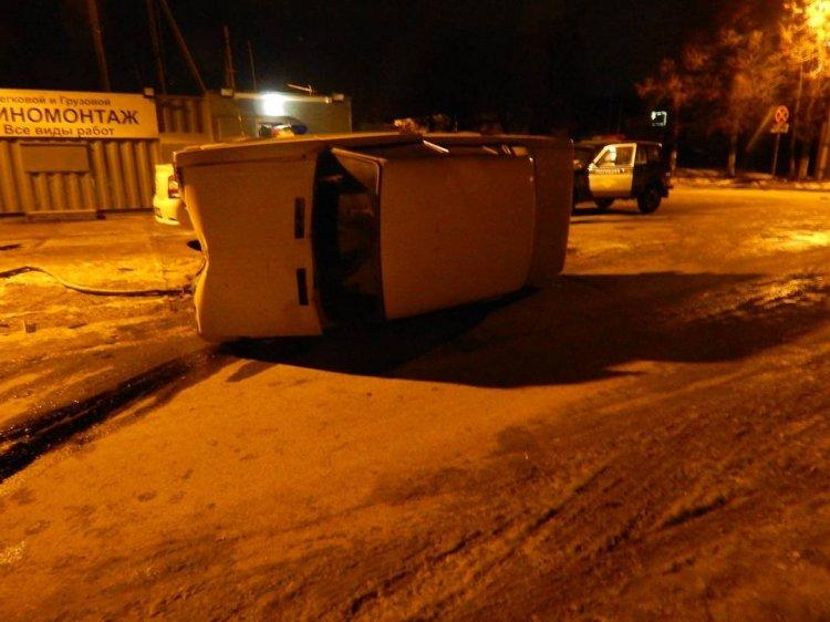 Пьяный 18-летний водитель без прав «опрокинул» машину в Уфе