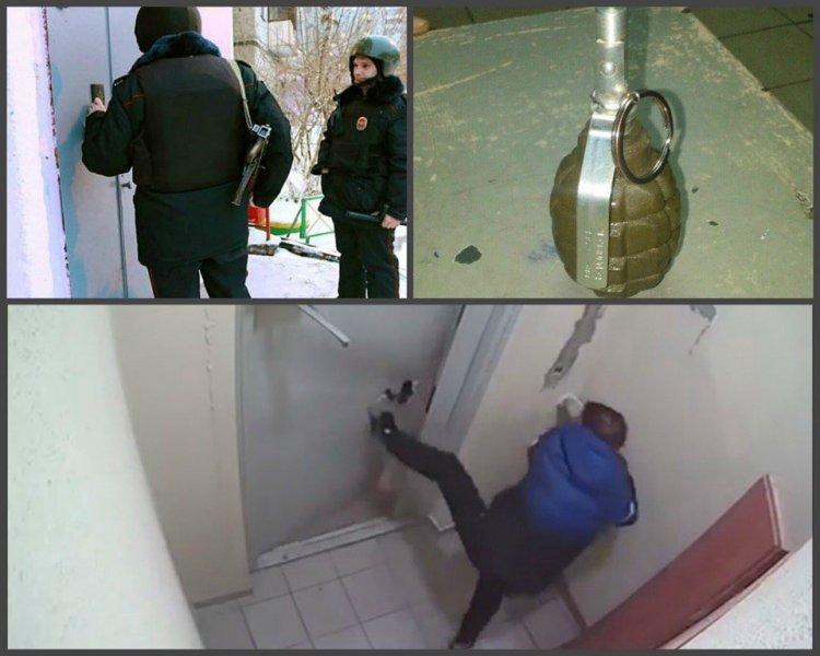 В Уфе сотрудники Росгвардии задержали мужчину, угрожавшего соседям гранатой