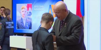 В Москве наградили юного героя из Стерлитамака