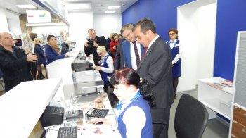 В Стерлитамаке торжественно открыли первое почтовое отделения нового формата