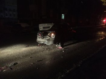 «Пьяное ДТП»: в Уфе Renault Logan протаранил Chevrolet Lacetti