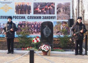 В Стерлитамакском районе состоялось торжественное открытие памятника погибшим сотрудникам МВД