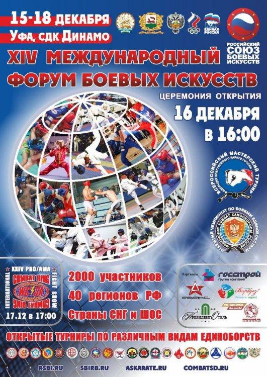В Уфе пройдет Международный форум боевых искусств