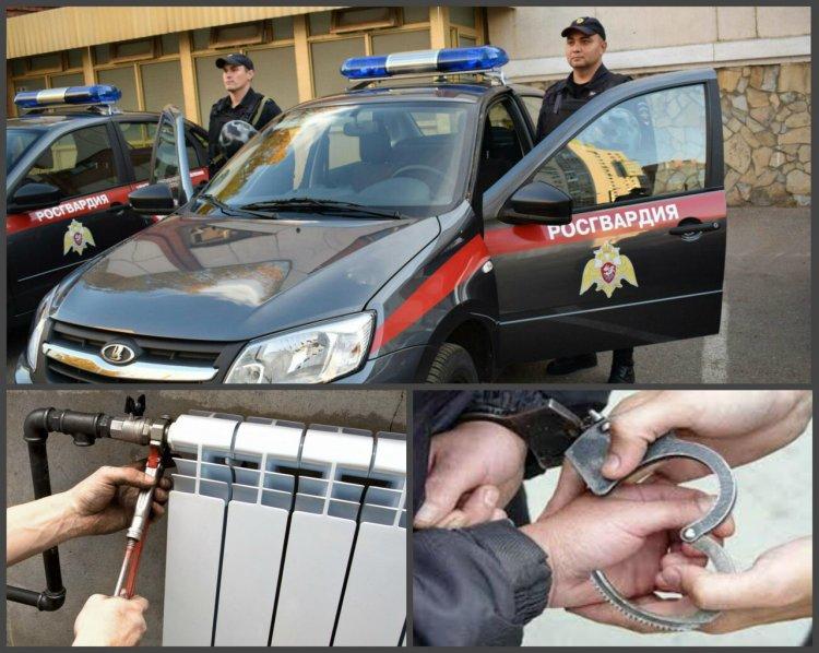 В Уфе сотрудники Росгвардии задержали мужчину, который срезал трубы и оставил без отопления целый подъезд