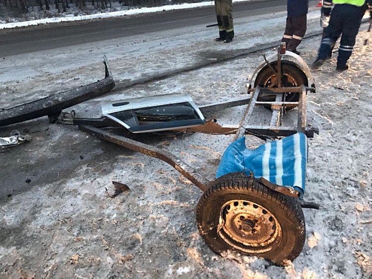 Страшное ДТП в Башкирии: буксируемый ВАЗ выбросило на встречку под «Нексию»