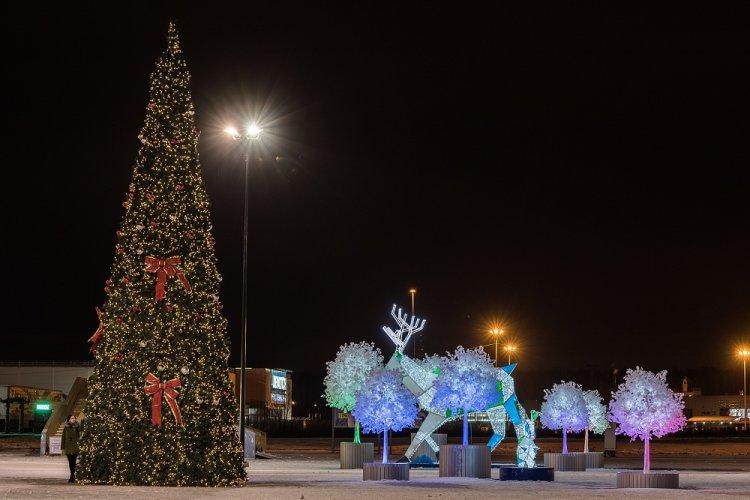 На парковке МЕГИ Уфа состоится праздничное открытие «Зимнего парка»