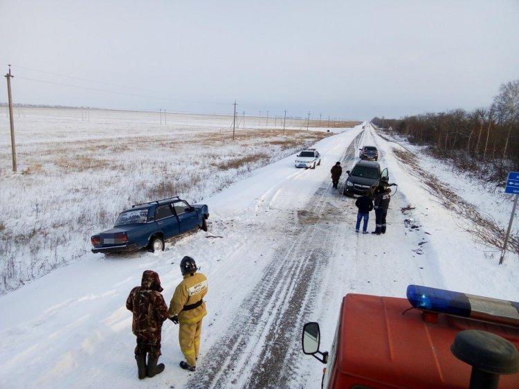 В Башкирии столкнулись Opel Antara и ВАЗ-2107, есть пострадавшие