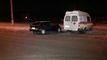 В Башкирии реанимобиль с тяжелобольным пациентом попал в ДТП