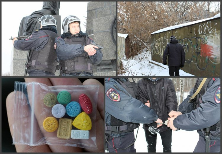 ВУфе схвачен наркосбытчик скрупной партией наркотиков