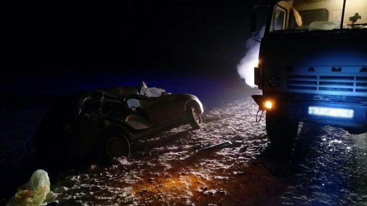 ДТП в Башкирии: водитель «Лады Калины» столкнулся с КамАЗом