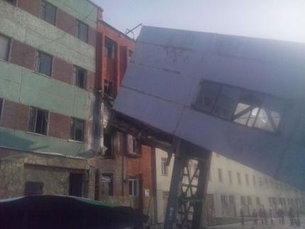В Стерлитамаке обрушился надземный переход