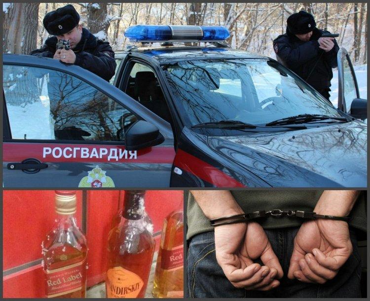 В Уфе задержали подозреваемого в краже элитных алкогольных напитков