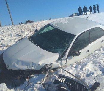 Смертельное ДТП в Башкирии: Chevrolet Lanos протаранил Skoda Rapid
