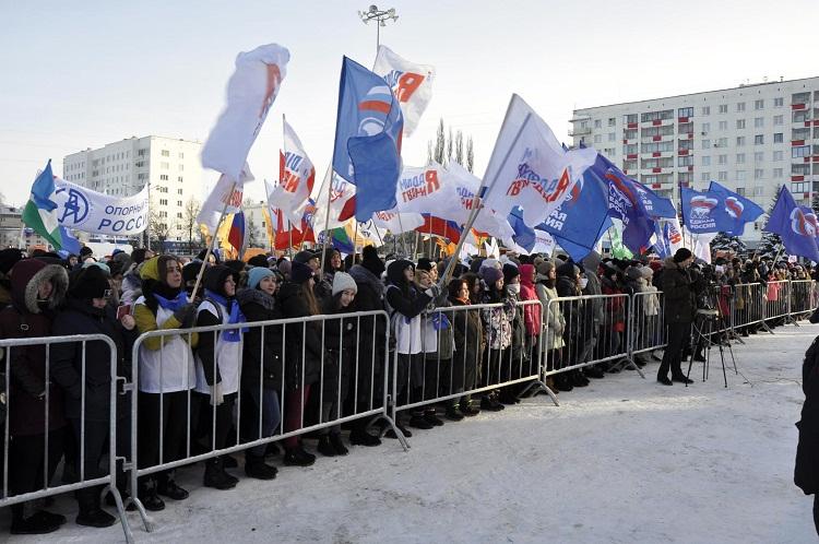 В Башкирии на митинг в честь победы Владимира Путина пришли 6,5 тысяч человек