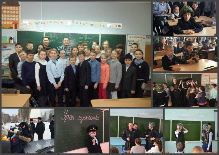 В Башкортостане росгвардейцы провели для школьников Уроки мужества
