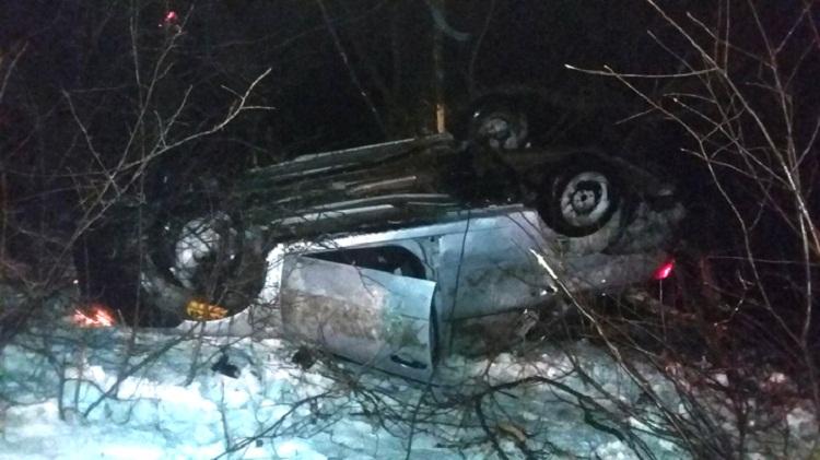 В Башкирии опрокинулся Datsun on-DO, есть пострадавшие