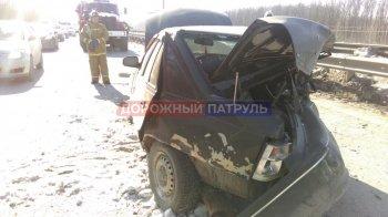 На автодороге Уфа-Аэропорт Range Rover врезался в Daewoo Nexia