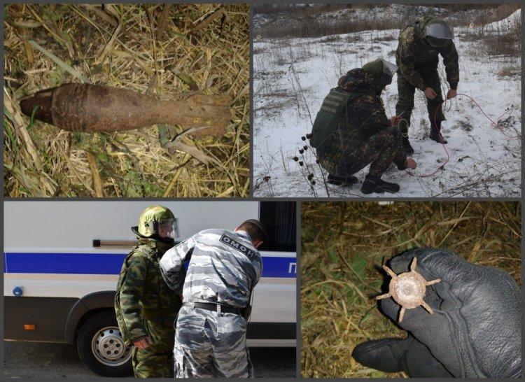 В Башкирии сотрудники ОМОНа Росгвардии обезвредили взрывоопасный снаряд