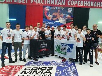 Спортсмены сборной команды РБ по СБЕ (ММА) привезли из Ижевска три золотые медали