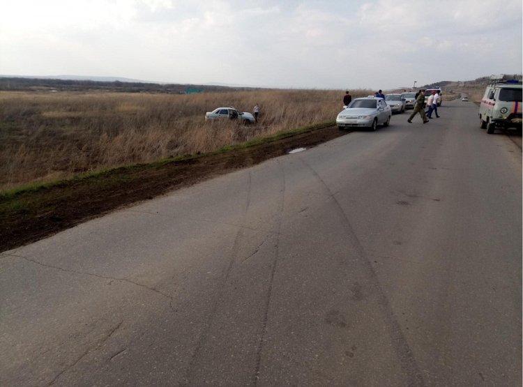 В Башкирии опрокинулся ВАЗ-2110, водитель погиб