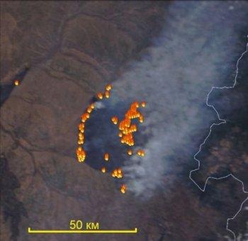 Пожары в зоне космического мониторинга зарегистрировали в Башкирии
